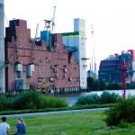 Hafenkulisse in Wilhelmsburg