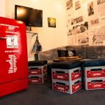 Superbude Hotel Hostel Lounge Kühlschrank weit