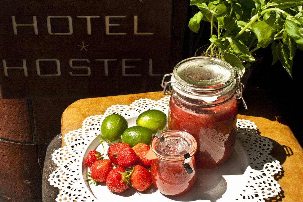 Erdbeeren auf dem Sonnendeck