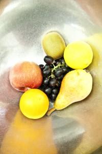 Obst in der Silberschale