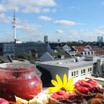 ...und gemeinsam mit der Aussicht auf Hamburg...