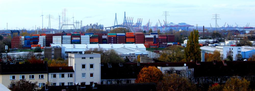 Hafen und Köhlbrandbrücke