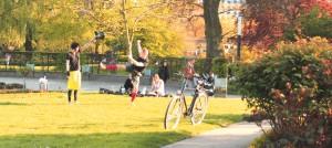 Der Park eignet sich wunderbar...