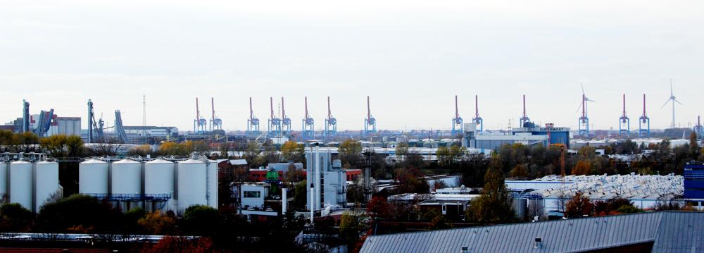 Blick vom Energiebunker