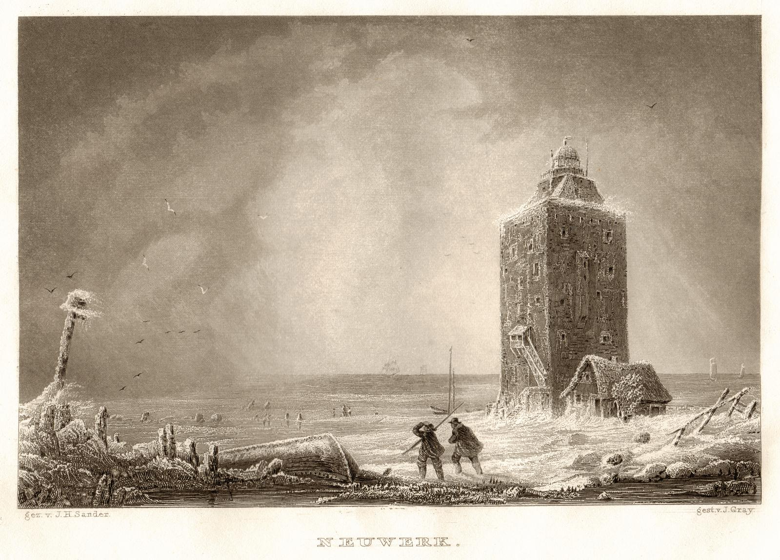 Leuchtturm Neuwerk / Foto: Johann Heinrich Sander [Public domain]